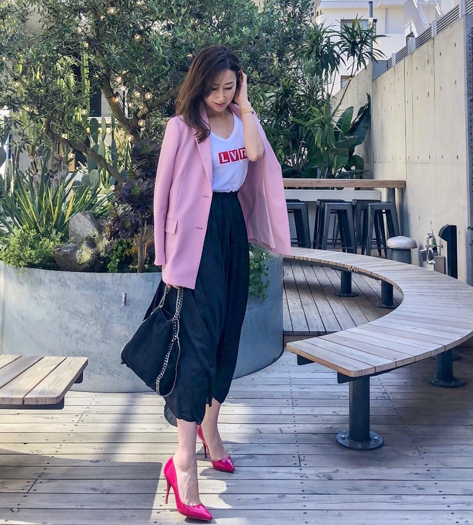 #ファッション #お洒落 #お洒落さんと繋がりたい #アラフォーコーデ #大人コーデ #ジャケット #テーラードジャケット #ピンク #fashion #outfit #code #coordinate #pink #style #ootd #new #instagood #lifestyle #jacket #instafashion #instalike #spring #sscollectivejp #sslooksjp #shopstylejp #shop #shopping #cute