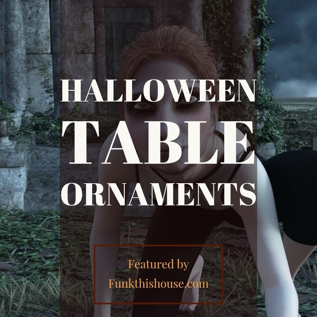 Halloween Table Ornaments or a Halloween Village