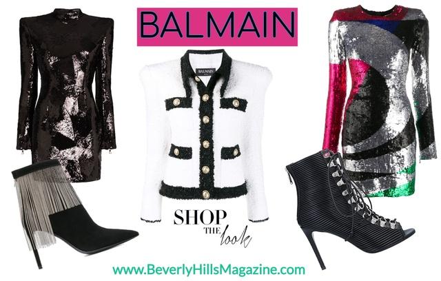 www.BeverlyHillsMagazine.com #beverlyhillsmagazine #beverlyhills #shopstyle #balmain #fashion #style #sequin #leather