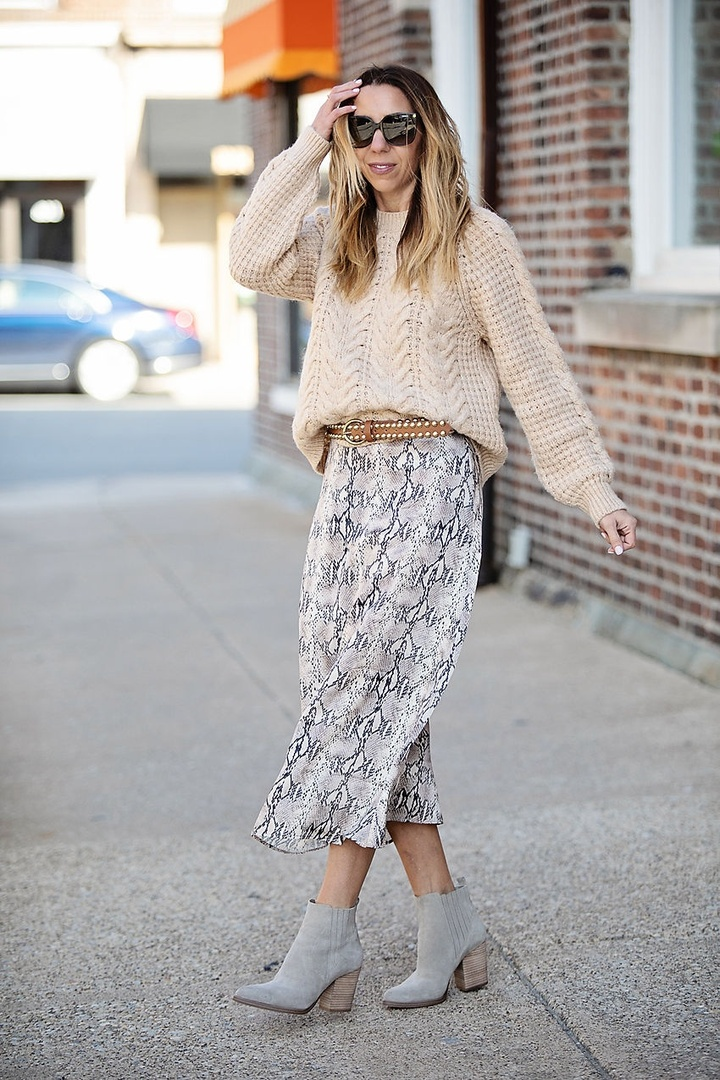"NYFW or pre-school pick up? Either way this snakeskin print skirt will get you spotted. This new ""must-have"" print slithers effortlessly from winter to spring and from the runway to running errands. @lordandtaylor #sponsored @ShopStyle"