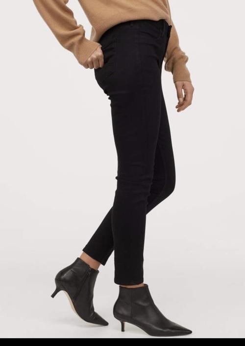 Look by Jennifer sattler featuring H&M - Skinny Regular Ankle Jeans - Black