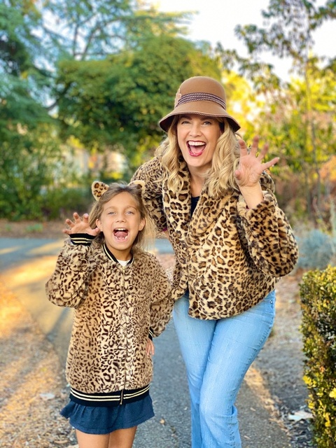Meow! Channeling our inner leopard.   #leopardprint #leopardjackert #mommyandme #LooksChallenge