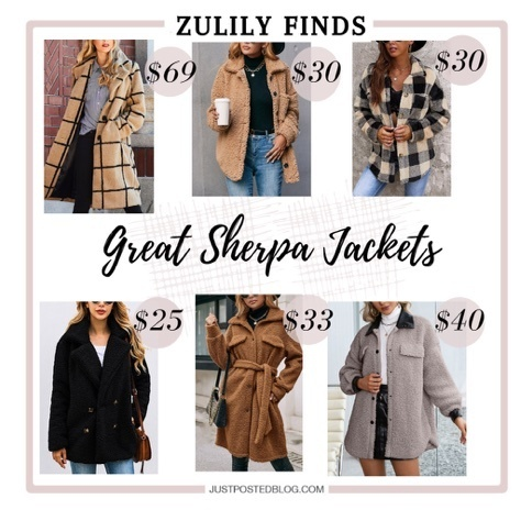Sherpa Jackets from Zulily