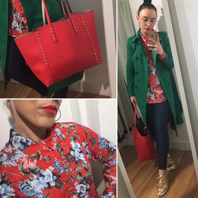 n so today I'm wearing a bright floral print shirt from H&M #ShopStyle #MyShopStyle #ootd #mystyle #mylook #ss19 #floralprint