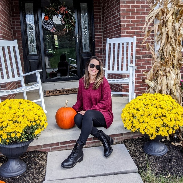 cozy fall look with oversized sweater, leggings, and combat boots #ShopStyle #MyShopStyle #ootd #mylook #fallfashion