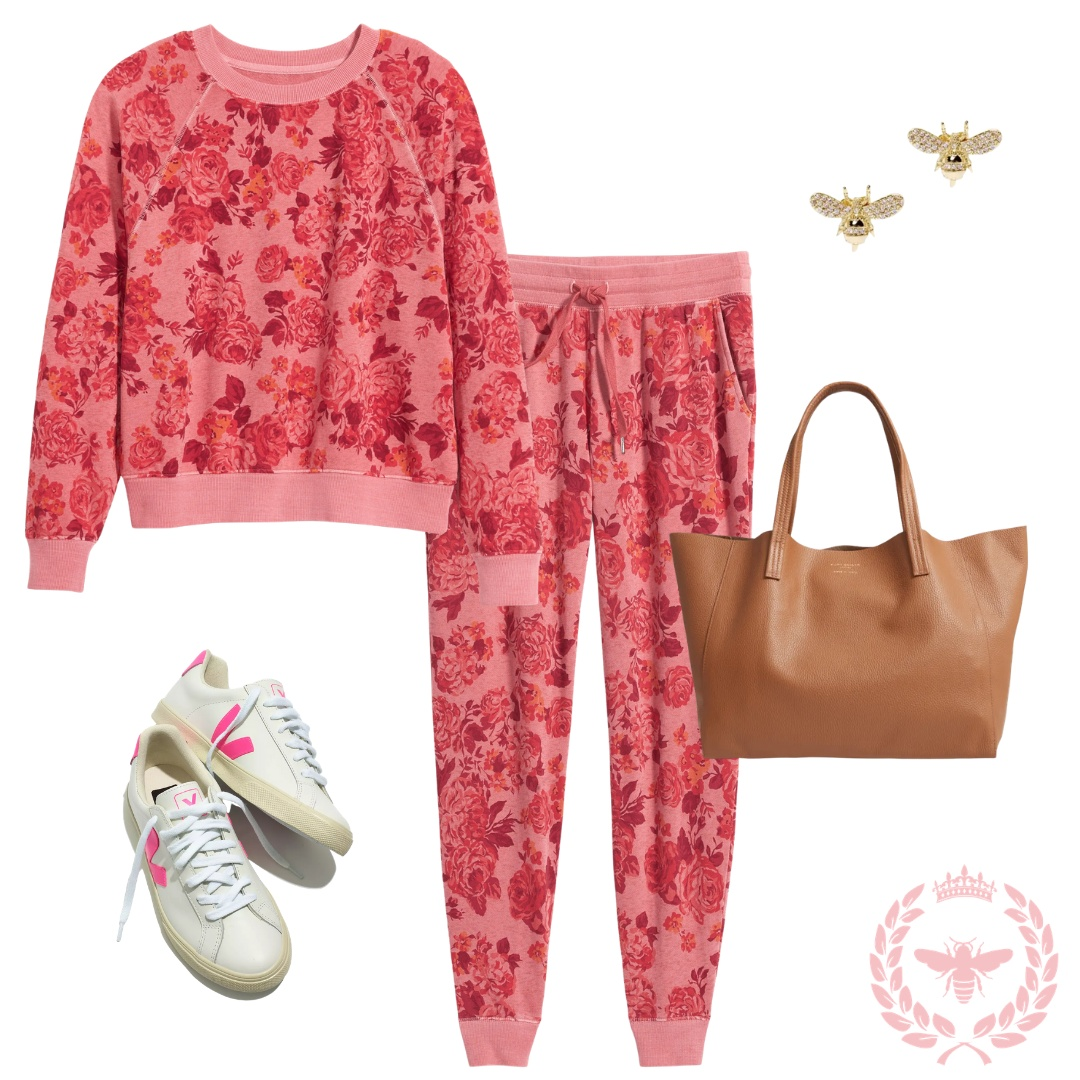 Look by Willow Crowns At Home featuring Mid-Rise Vintage Street Jogger Sweatpants for Women