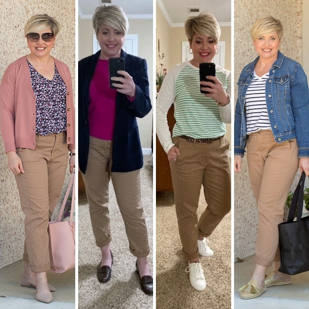 Look by Savvy Southern Chic featuring High-rise girlfriend chino pant