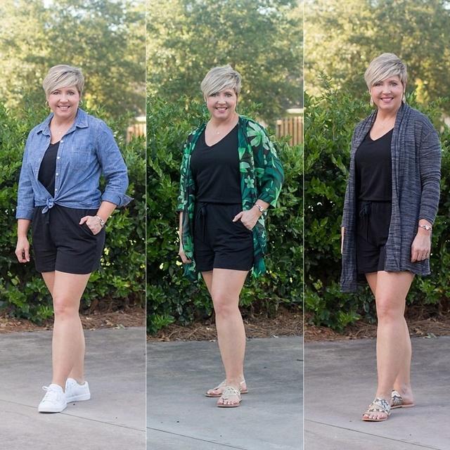 Romper three ways #ShopStyle #MyShopStyle #summerstyle #fashionover40