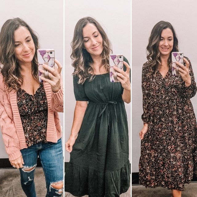 Fall family photo options from Old Navy including dresses, sweaters, jeans and casualfloral tops