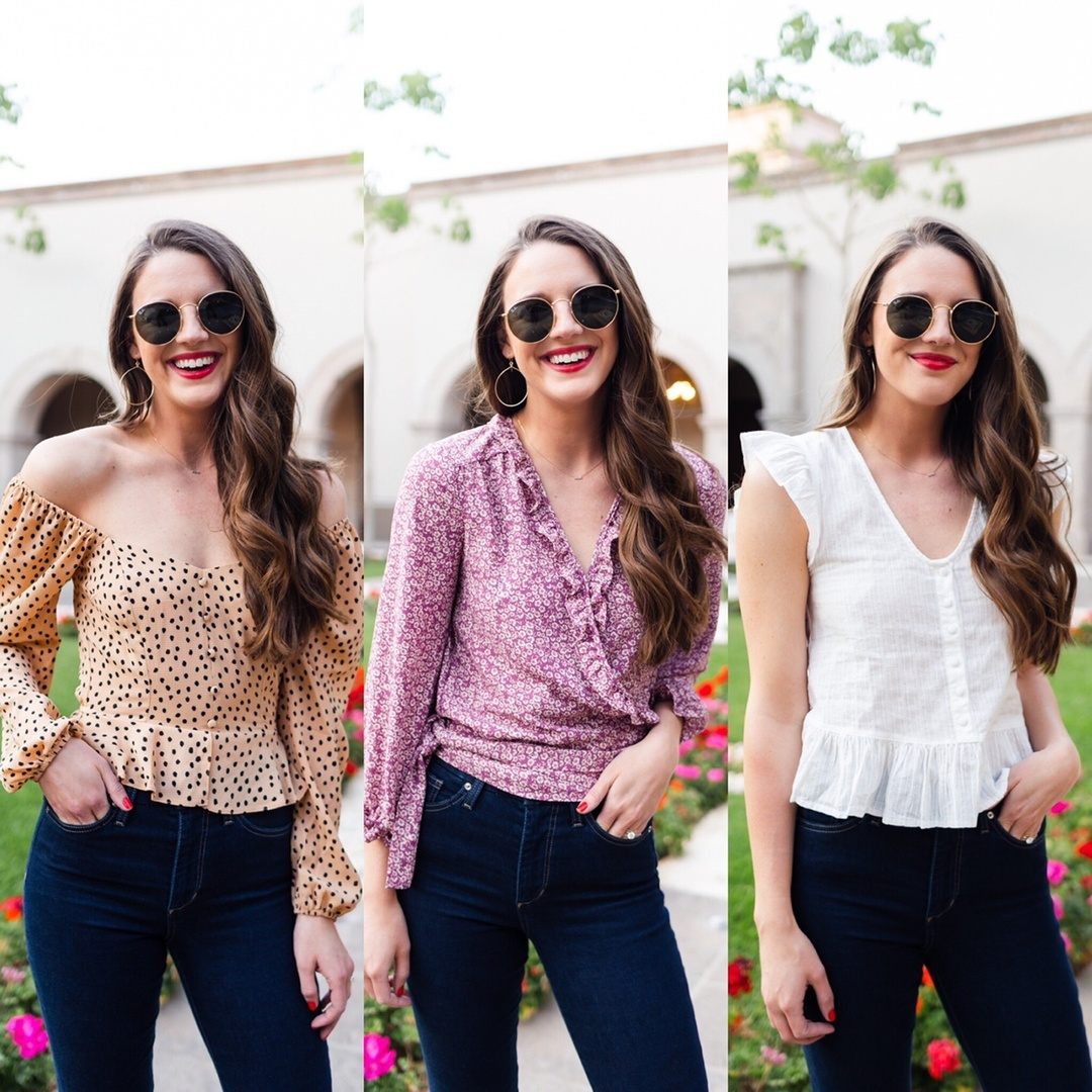 Three date night tops perfect for spring and summer!