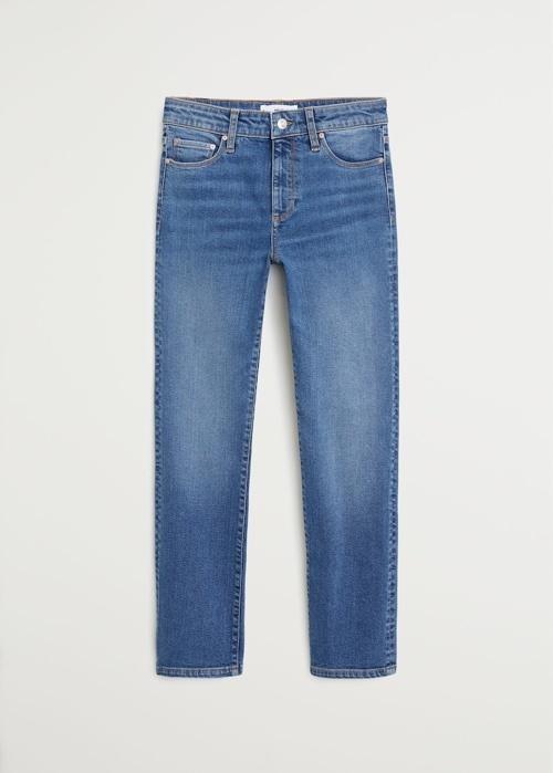 Look by Jennifer sattler featuring MANGO - Regular straight jeans off white - 1 - Women