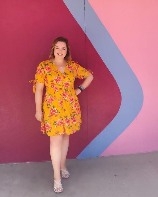r in my Neon Rose dress! #bubblegumwall #wallsofdisney #neonrose #disneyday #elleandmimi #ShopStyle #shopthelook #SummerStyle