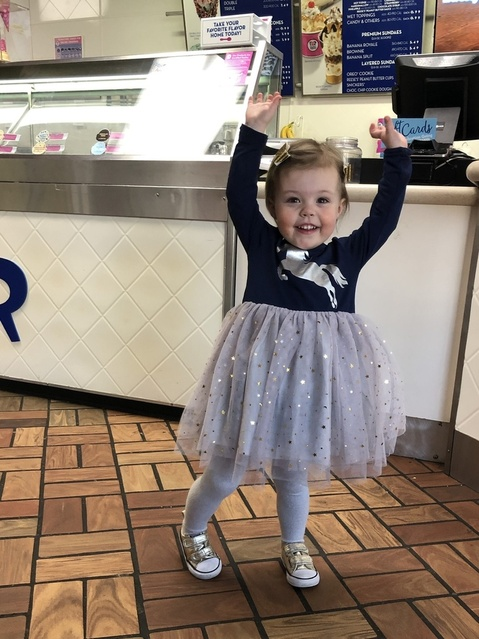 We all scream for ice cream!  (Especially princesses who love tulle)