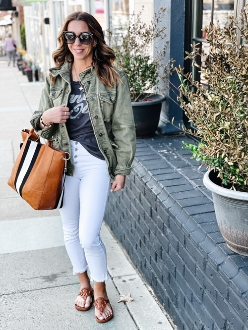 Look by themotherchic featuring Harley Military Jacket