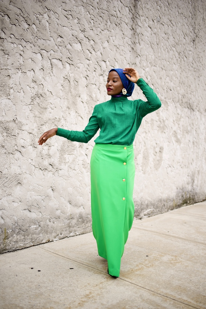 irose.com/collections/skirt/products/green-grand-skirt   #ShopStyle #LooksChallenge #ContributingEditor #Winter #TrendToWatch