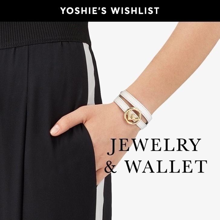 ShopStyleのブラックフライデーは海外ショッピングサイトにフォーカス!この時期に買わなきゃ損なプライスのアイテムが登場するため、ウィッシュリストの作成はとっても肝心です!私がまず狙いたいのはお財布。お財布はやはりラグジュアリーブランドの物をチョイスしてこだわりたいアイテムです。小さめバックにも入るサイズの物を探していて、loeweのpuzzle財布のピンクや、チェリーレッドのSaint Laurentのものがとても気になります!欲しいアイテムがいろんなサイトで販売されている場合は、同じ商品でも全てお気に入りに入れて価格を比較するのがポイントですよ! また、秋冬はきらきらとしたジュエリーで暗くなりがちなコーデを華やかにしたくなります。YOOXで見つけた、First People Firstのジュエリーは手の届きやすいプライスかつデザインも個性的で、即ウィッシュリストに入れてしまいました。他にもFendiのロゴが入ったアクセサリーはゲットしたい憧れアイテムですし、パールやカラフルなストーンのジュエリーは冬のコーデに是非取り入れたいところ。皆さんも自分が気になるアイテムのウィッシュリストを作ってブラックフライデーを楽しんでくださいね!