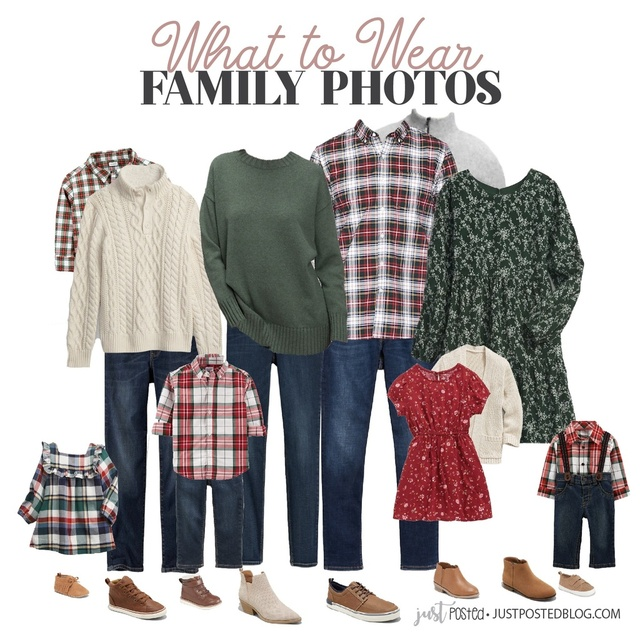 u looking for what to wear for family pictures? This look is perfect for pictures around the Holidays or for Christmas cards!