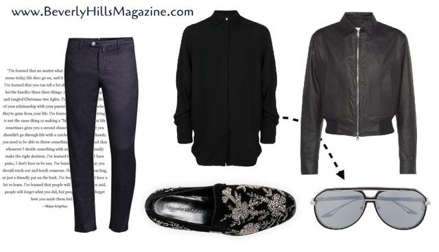 Cool Black & Blue Style For Men #ShopStyle #MyShopStyle #MensStyle #ShopforMen #StyleforMen #Love #Style #BevHillsMag
