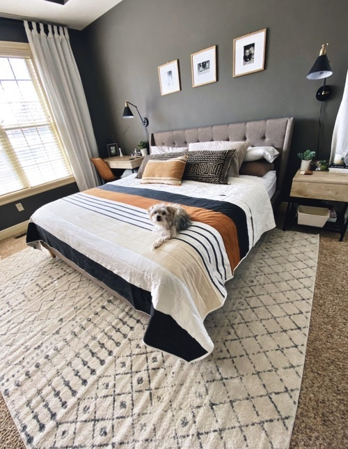 Fashion Look Featuring Threshold Home, Her Majesty Upholstered Platform Bed Queen