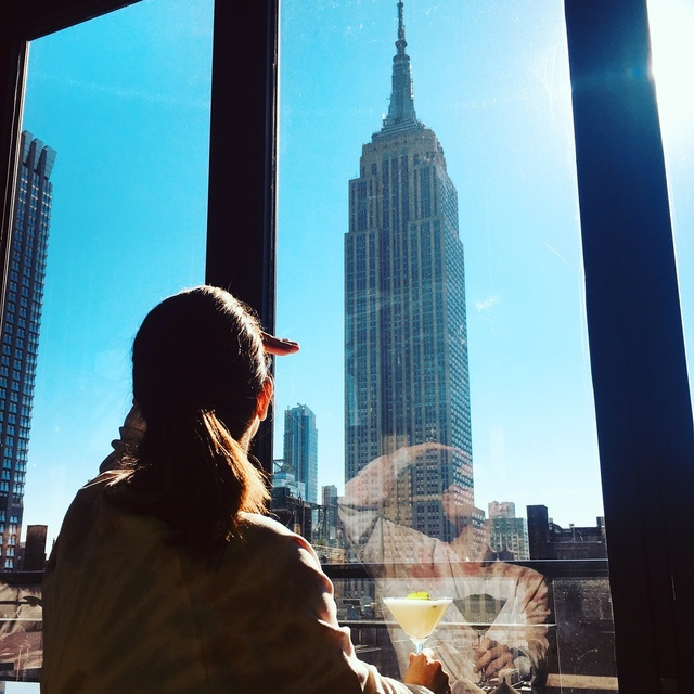 ing a cocktail and taking in the view of the empire state building!   #MyShopStyle #Lifestyle #Vacation #Travel #TrendToWatch