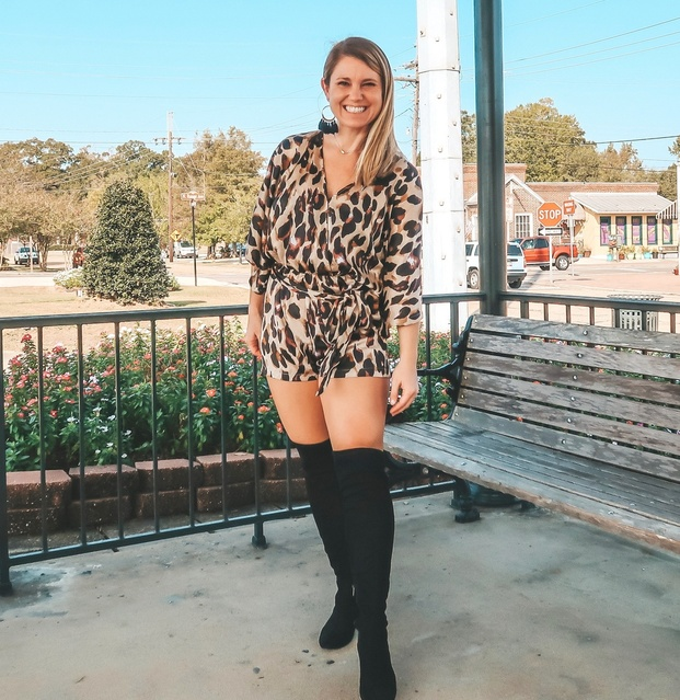 All about some OTK boots and leopard print!  #ShopStyle #MyShopStyle #TrendToWatch