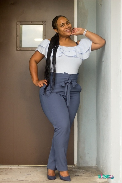One of my favorite fall pieces are the Paperbag Waist Pants