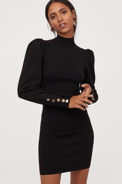 #sweaterdress #puffsleeve #girlsnight #holidayparty
