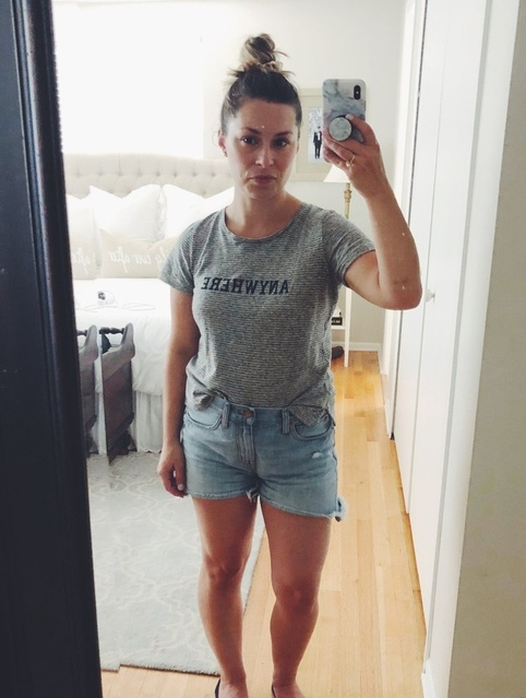 #annarbor #denver #sistercousins #family #cutemom #summerstyle #comfycute #madewell #comfytee #jorts #scrunchies #MyShopStyle