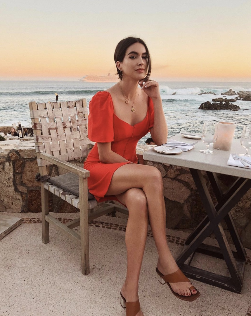 The sunsets here 😍🌅 #TravelOutfit #WeekendLook #BirthdayParty #SummerStyle #ShopStyle #shopthelook #MyShopStyle #BeachVacation #OOTD #DateNight #SpringStyle #cabo #mexico #puffsleeve #red #reddress #dress #sigersonmorrison
