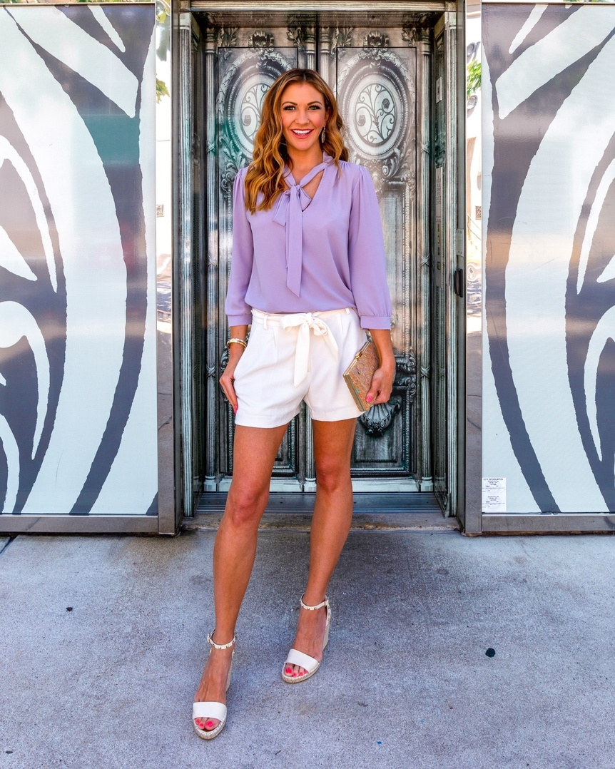 e sure to grab a pair of ivory shorts to dress up any blouse! #ShopStyle #ContributingEditor #Lifestyle #TrendToWatch #Travel