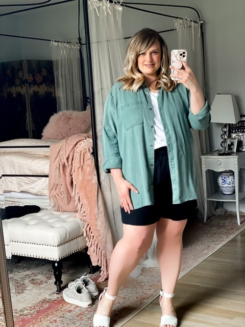 creative and style pieces I already own! The shorts are a recent favorite purchase. They are under $20 and so comfortable!