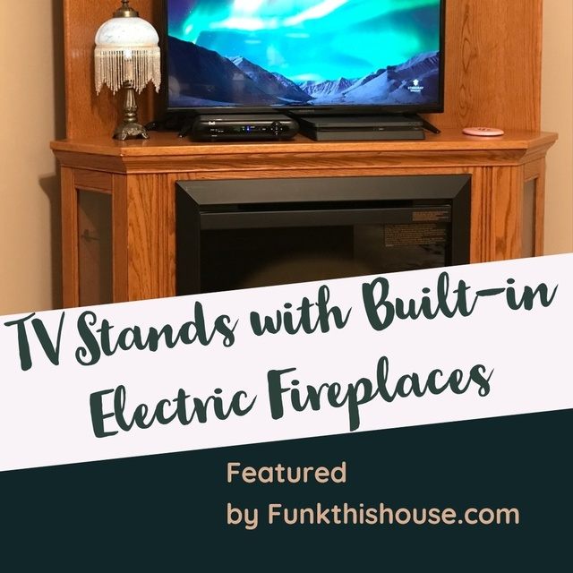 ace for heat and ambiance.  #tvstand #fireplacetvstand #electricfireplace #spacesaving #tvfireplace #funkthishouse #shopstyle