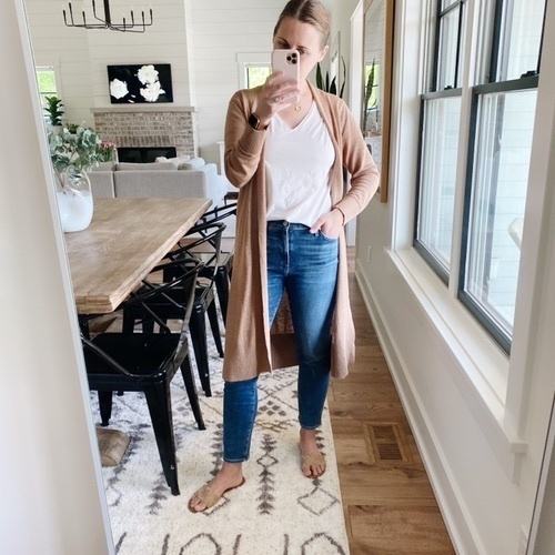 Cardigan is 40% off, jeans are true to size. Shop it all with the link in my profile #ShopStyle #MyShopStyle #LooksChallenge
