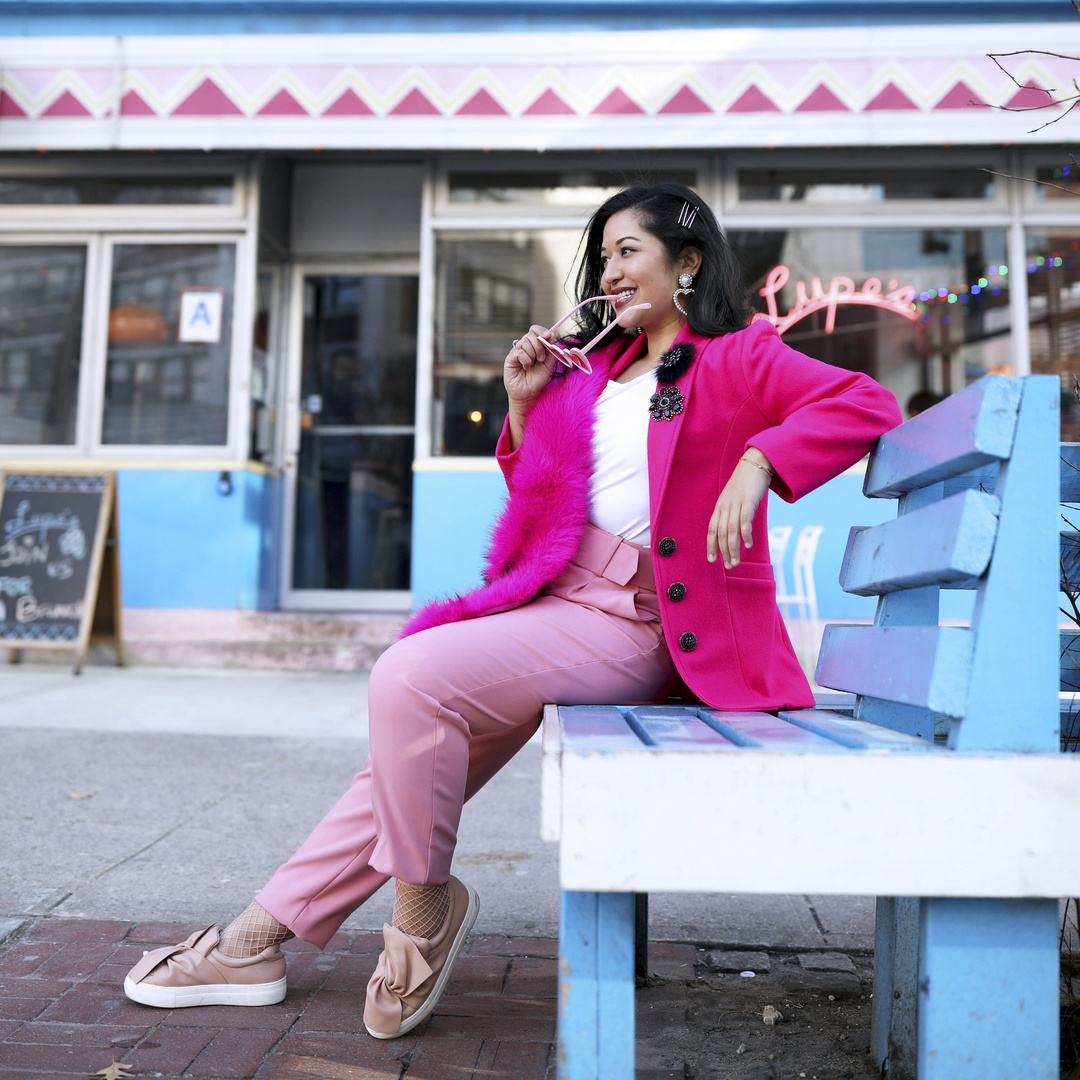 Nothing better than wearing all shades of pink! #kritys #pink
