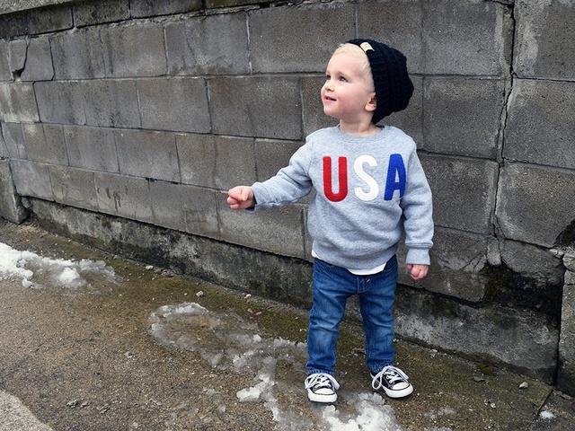 Little American #toddlerstyle #ootd #america #ccbeanie #oldnavy #kidsstyle