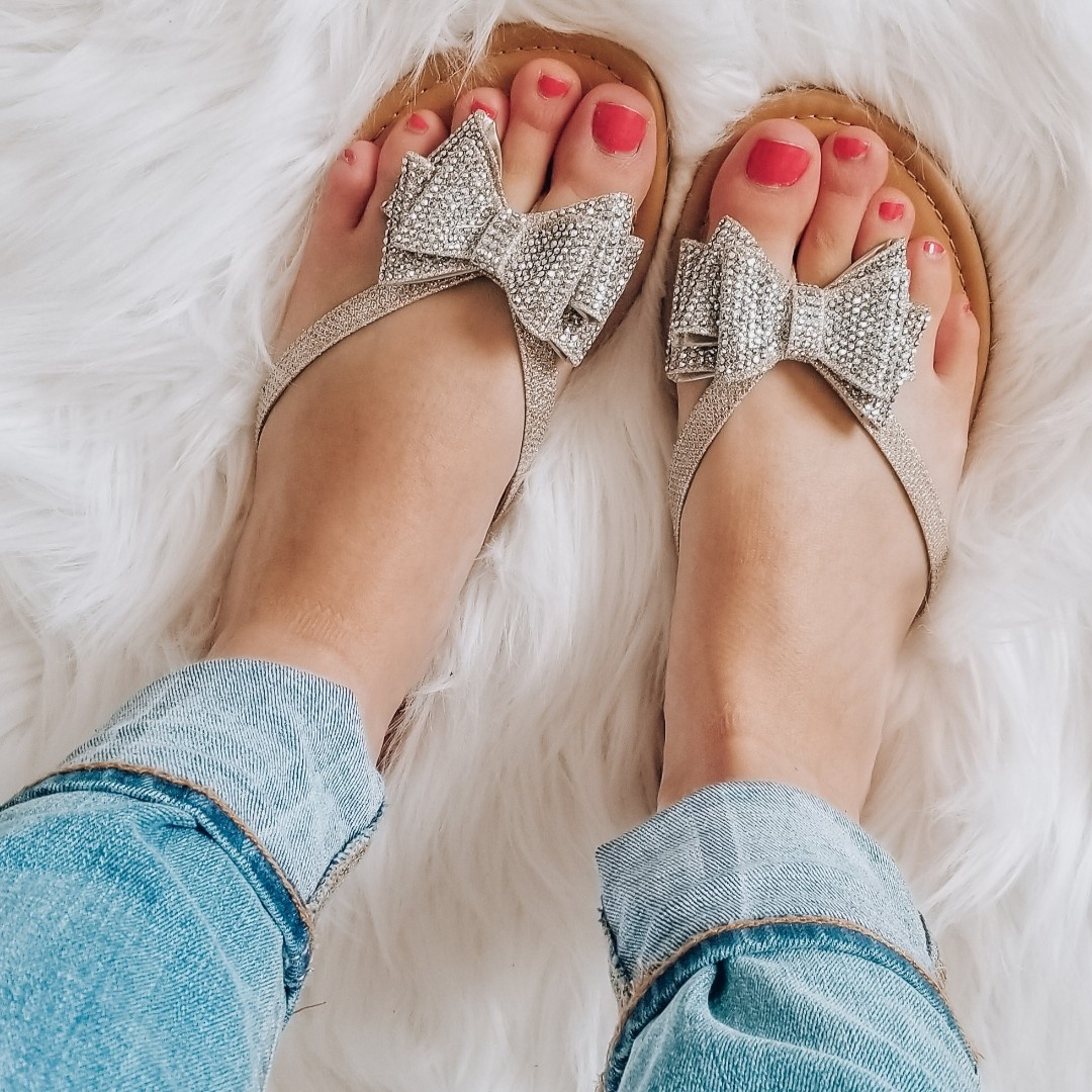 Look by xoamela featuring Inc Women's Mabae Bow Flat Sandals, Created for Macy's Women's Shoes