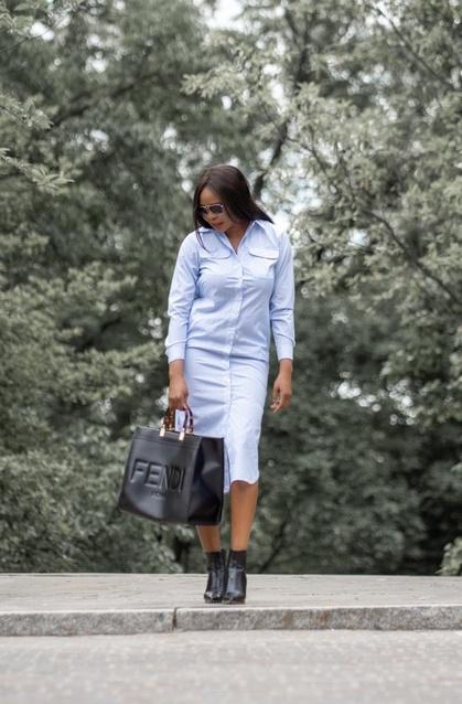 ralphlauren Striped Cotton Broadcloth Shirtdress.