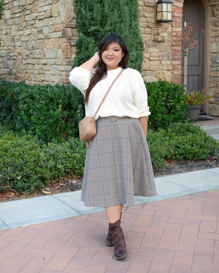Look by Allison Teng featuring RACHEL Rachel Roy Adrina Cable Sweater