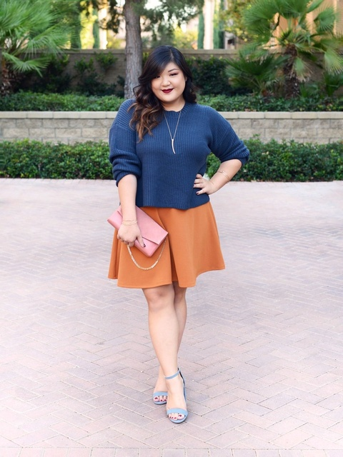 e mixing in some unexpected colors like this dusty blue/pumpkin orange combo! #ad  #ShopStyle #shopthelook #OOTD #MyShopStyle