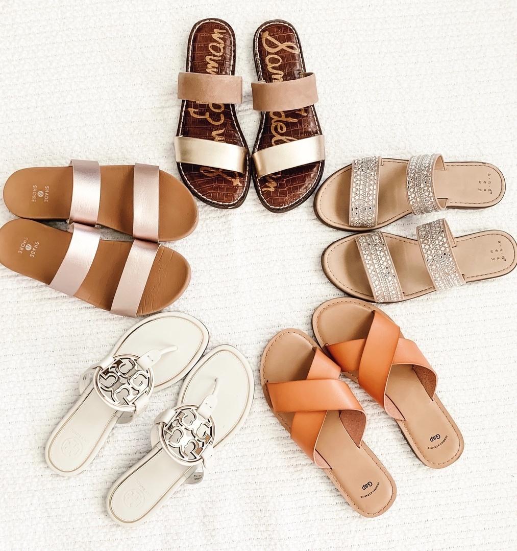 Look by welldressedbff featuring Women's Dedra Slide Sandals - Shade & ShoreTM
