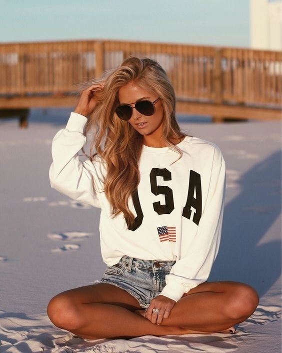 Look by Cassandra Adams featuring Ray Ban Ray-ban White Plastic Sunglasses