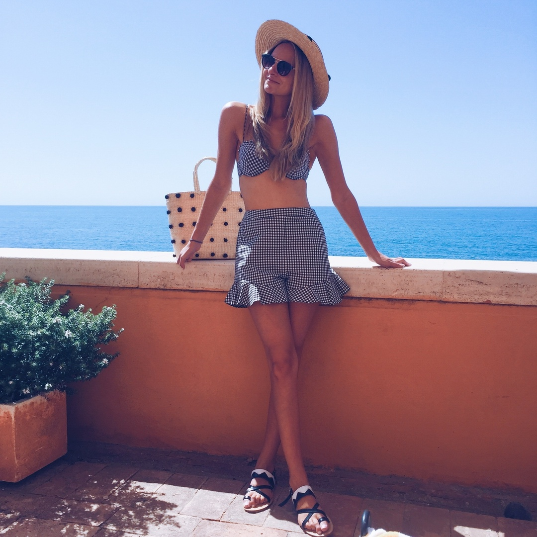 My Look: Swimsuit & Shorts, Topshop/Sandals, Revolve/Hat, Forever 21 #ssCollective #ootd #shopthestylesnap #stylesnapgetaway