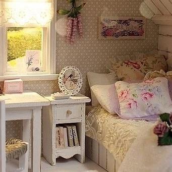 Shabby chic girl bedroom