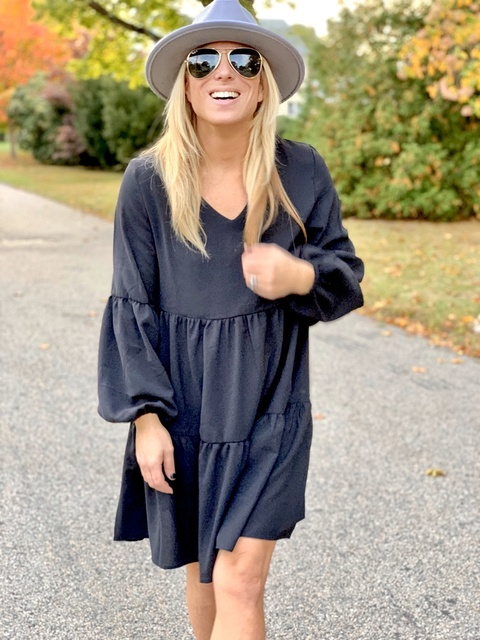 #FallWeather #MomStyle #MomFashion #LittleBlackDress #EverydayStyle #OOTD #40andFabulous #over40style #over40women #ShopStyle