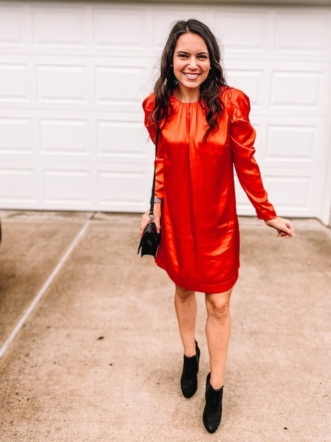 kunder100 #outfitunder100 #kohlsfind #reddress #holidaydress #holidayvibes #dressunder20 #almost40 #40andstylish #holidaylook