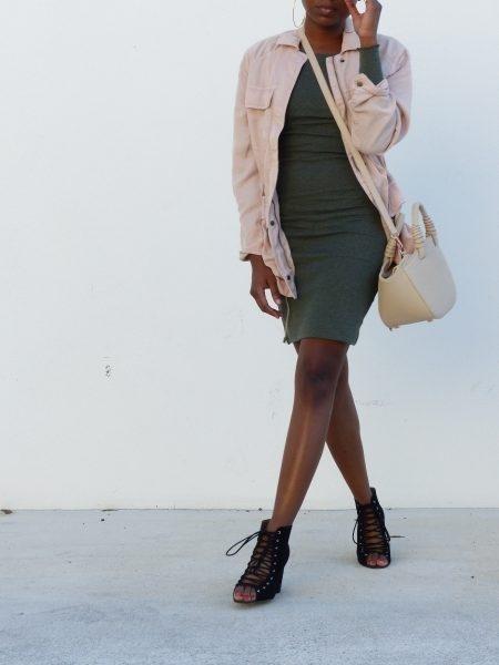 e. #howtowearautilityjacket #utilityjacket #fallstyleideas #longsleevedresses #dressesforfall #blush #ShopStyle #ssCollective
