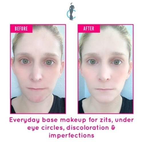 Everyday base makeup for imperfections