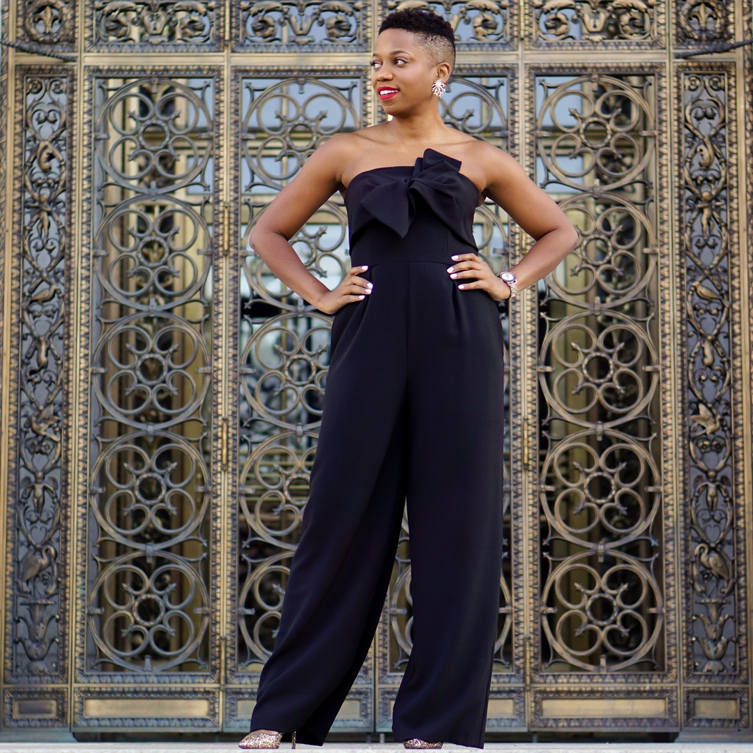 The most versatile black jumpsuit #Nordstrom #BlackJumpsuit #Chelsea28  #allblackoutfit