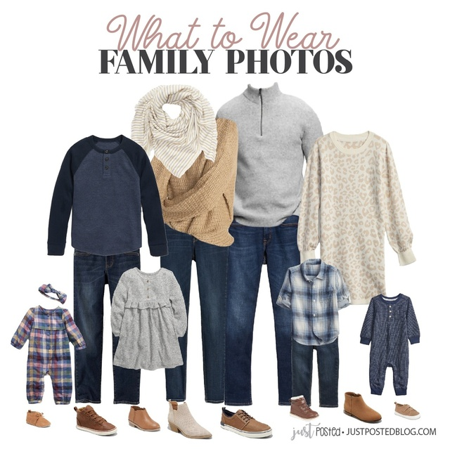 If you are looking for ideas for What to Wear for Family Pictures for Fall or Winter, this look would be perfect!