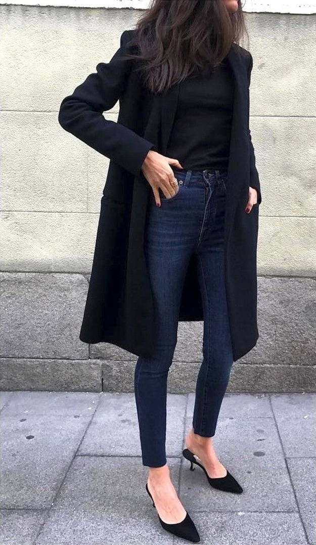Look by The Get Look featuring 10-Inch High Rise Skinny Jeans